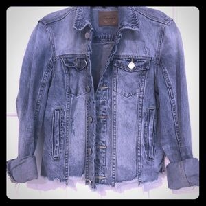 BLANKNYC DISTRESSED, CROPPED DEN JKT SZ S FAB COND